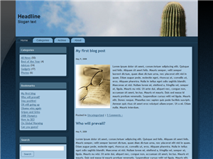 Cactus Cloud Free Wordpress Theme