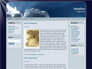 Silver Lining Free Wordpress Theme